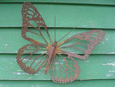 Kiwiana Garden Art MONARCH BUTTERFLY by ironweed on felt.co.nz
