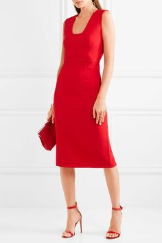Antonio Berardi - Stretch-cady Dress - Red - IT42
