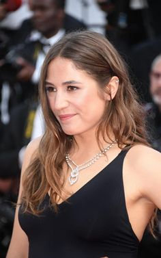 Izia Higelin wearing a necklace in platinum, set with diamonds by Chaumet for the Cannes 70th Anniversary celebrations