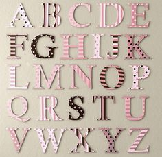 baby nursery cute letter decorations for nursery - Letter Decor