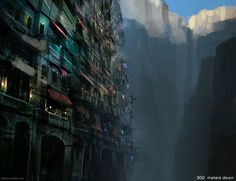 Concept art of a city in a dead volcano - Imgur