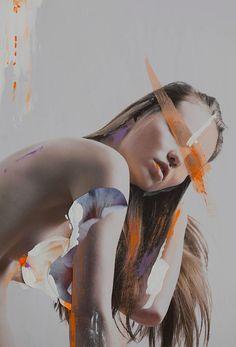 Photography and paper collages by Rocío Montoya / March 2016Model: Nika Miklíkova @ Simply Model ManagementMuah and hair: Blanka Javorská