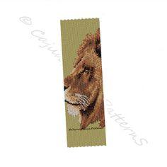 LION Peyote 2 Drop beaded Cuff bracelet by CajunsDesignPatternS, $4.50