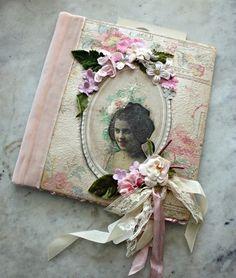 Vintage image inside frame. The colors work great together.