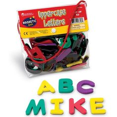 learning resources soft magnetic letters uppercase multicolor