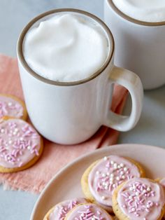 Browned Butter Sugar Cookies with Raspberry Glaze