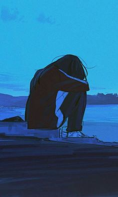 Keeping it to yourself isn't worth it. Sometimes you've got to let go Sad Anime Girl, Anime Art Girl, Manga Art, Manga Anime, Anime Guys, Anime Girl Crying, Aesthetic Anime, Aesthetic Art, Sad Wallpaper