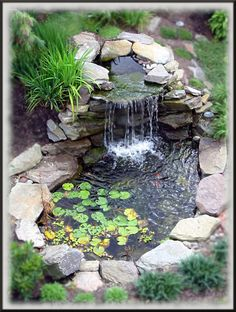 JUST PUT ONE IN BACK YARD ALMOST DONE KOI FISH EVERYONE SHOULD HAVE ONE RELAXING JUST NEED A BENCH NOW