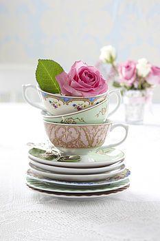 Marco Visconti - GetInpsired Teacups with Flower #MV #MarcoVisconti #decoration