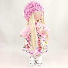 Textile doll Handmade doll Fabric doll Tilda doll Soft doll Cloth rag doll art doll tilda handmade doll fabric doll boneca russa Paulina