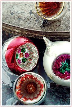 een sneller kloppend hart ♥: ~ oude kerstballen! ~
