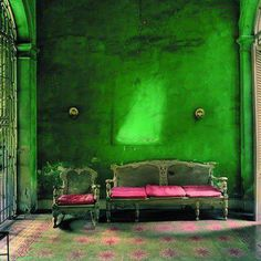Pink and green ... Boho style.