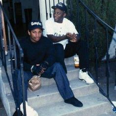 E and Ren #EazyE #StraightOuttaCompton by eazyeog
