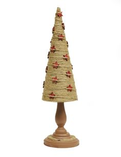 Make a Twine Tree with Stars DIY #Christmas