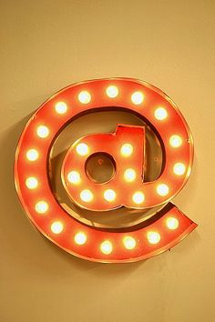 At Symbol Marquee Light  $209.00 // I love this SO HARD for an office! How cute!