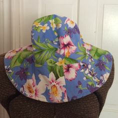 Reversible Hat Reversible hat is floral print on one side. No name on it. Accessories Hats