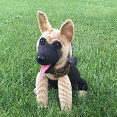 German Shepherd dog crochet pattern PDF. by Ambercraftstore