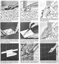 Acerto das superfícies revestidas com azulejos