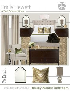 Zaharieva Master Bedroom Online Design Board By Emily Hewett Of A Well Dressed Home Our Online