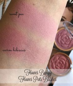 RED LIPSTICK DIARIES: Flower Beauty Flower Pots Blushes in Sweet Pea & Warm Hibiscus