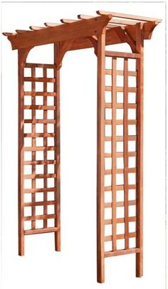 Greenstone Fairchild 84 in. x 61 in. Outside Wood Garden Arbor, Red Cedar