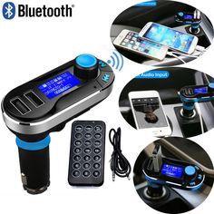 Voiture caliente FM Transmisor Inalámbrico de Música Bluetooth Llamadas Manos Libres Inalámbrico Cargador de Coche Reproductor de MP3 USB SD LCD 3 Color
