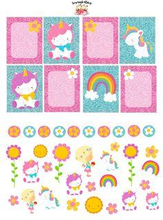 Rainbow Unicorn Planner Stickers Set by SugaryGaLShop on Etsy