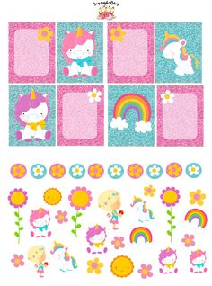 Rainbow Unicorn Planner Stickers Set by SugaryGaLShop on Etsy