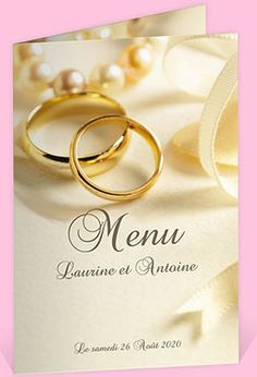 Menu mariage r�f. N401128 chez monFairePart.com