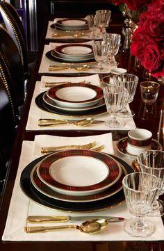 tartan dinnerware