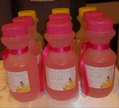 Parties by 'Its All About You Birthdays' personalized pink lemonade