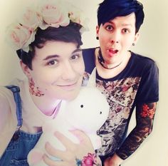 Pastel Dan and punk Phil what has the world come to