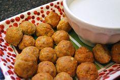 Bevy Richmond: Buffalo Chicken Meatballs & Blue Cheese Dressing