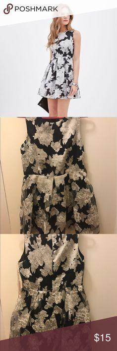 Brand New Forever 21 Floral Organza Pleated Dress Organza dress with black and white flowers by forever 21. Brand new with tag. Make an offer! Forever 21 Dresses Mini