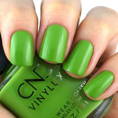 Crisp Green Cherry Apple, Cnd Vinylux, Red Polish, Green Nails, Nail Polishes, Shellac, Autumn, Fall, Swatch