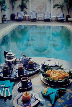 Morrocan Tea with Russian Lomonosov Porcelain set