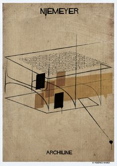 Gallery - Federico Babina's ARCHILINE Paints the Essence of Architecture's Greatest Works - 1