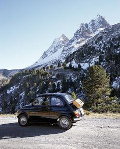 "Martina Bisaz en Instagram: ""I'm so glad spring is on its way! @kitkat_fiat500 #FeelTheAlps"""