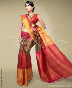 SR-0151 Loved the blouse pattern and saree itself, so rich in colour and design!