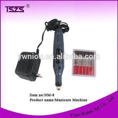 Brand New 6 Bit Nail Art Drill File Manicure Electric File Pedicure Machine Set #8_Bit, #art
