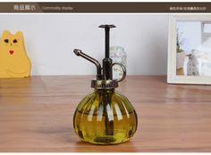 Vintage Pressure Sprayer Glass Bottle Watering Cans Pot For Succulent Plants Bonsai Flower Watering Pot Glass