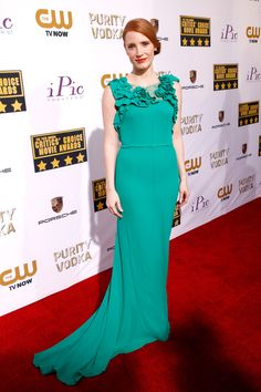 Jessica Chastain | Fashion At The Critics' Choice Awards