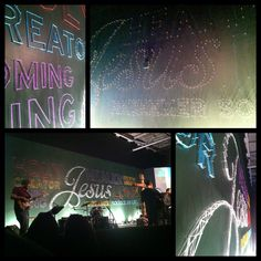 Good Friday / Easter art installation- hundreds of nails and a few balls of yarn. During a collaborative worship concert between three Providence churches, the Ren Art Team transformed a wall full of nails into a three dimensional typographic mural.