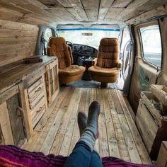 Interior Design Ideas For Camper Van Organization44 - camperism