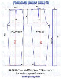 PANTALON BASICO - Talle 42