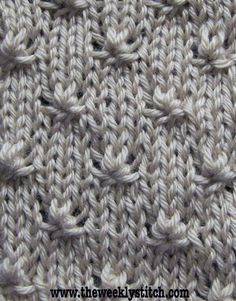 Knit Stitch.  The Weekly Stitch