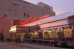 Glistening against the downtown Sharon landscape, Donna's Diner looks as though it has stepped straight out of the 50s.  Enjoy a trip down Memory Lane, regardless of your age, when you visit this vibrant diner.