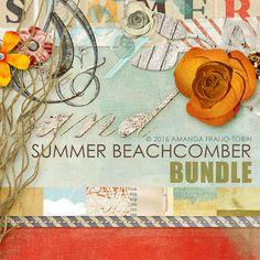 Digital Scrapbooking Summer Beachcomber kit bundle by AFT Designs | ScrapGirls.com #digitalscrapbooking #scrapbook #summer