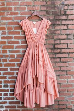 Windy Creek Hi-Low Ruffle Drawstring Maxi Dress - - - Coral Maxi Dress Source by deepikapenmaths Elegant Dresses, Sexy Dresses, Cute Dresses, Casual Dresses, Fashion Dresses, Dresses For Work, Formal Dresses, Awesome Dresses, Wedding Dresses