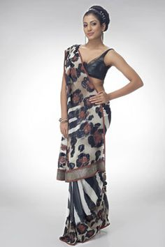 A zebra stripe satya paul saree